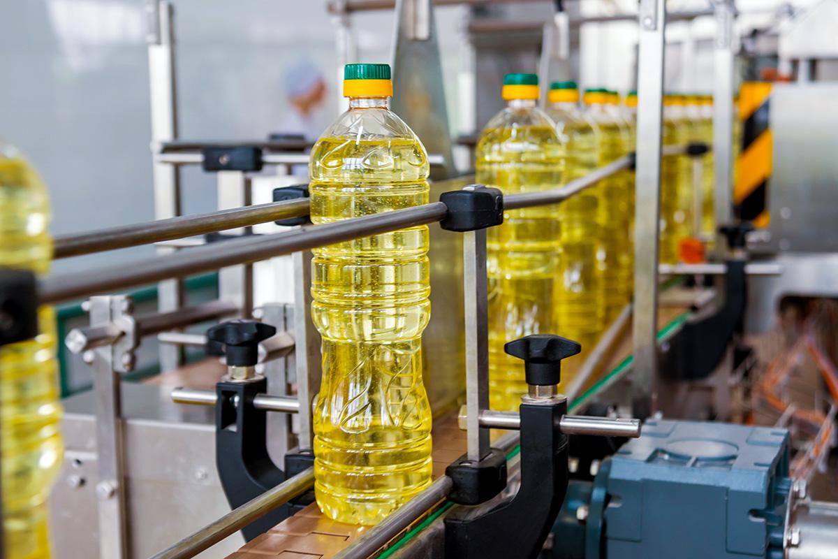 Sunflower oil production